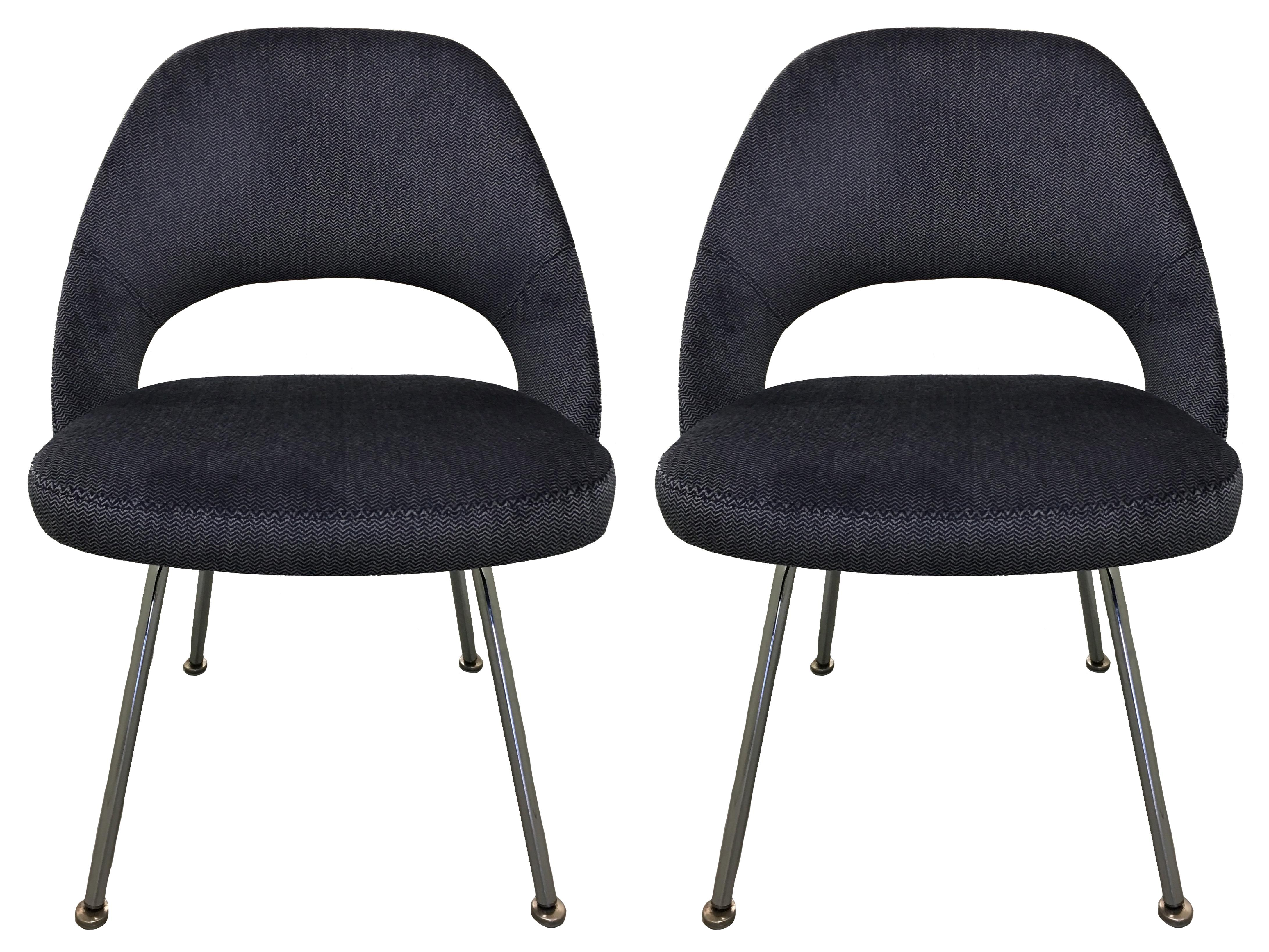 1960 Knoll Saarinen Executive Side Chairs   Set Of 4   Image 2 Of 9
