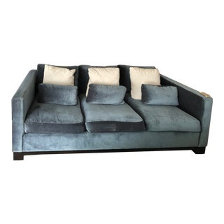 Contemporary Blue Sofa For Sale