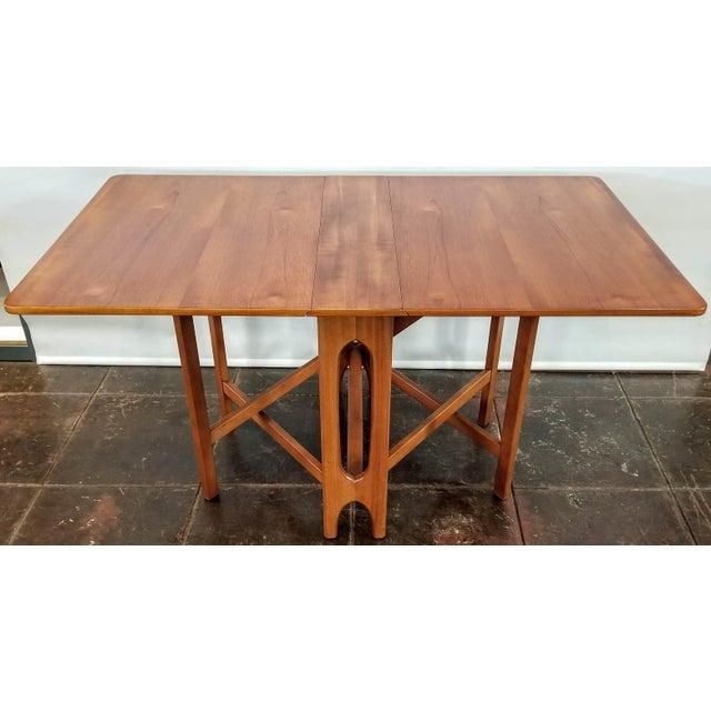 """Vintage 1960s Mid-Century Norwegian Modern Bendt Winge """"Ellipse"""" Style Gate-Leg Drop-Leaf Table For Sale - Image 11 of 11"""