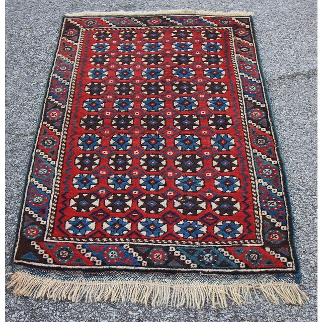 """Islamic Antique Tribal Oushak Hand Knotted Turkish Rug - 2'5"""" X 3'8"""" For Sale - Image 3 of 5"""