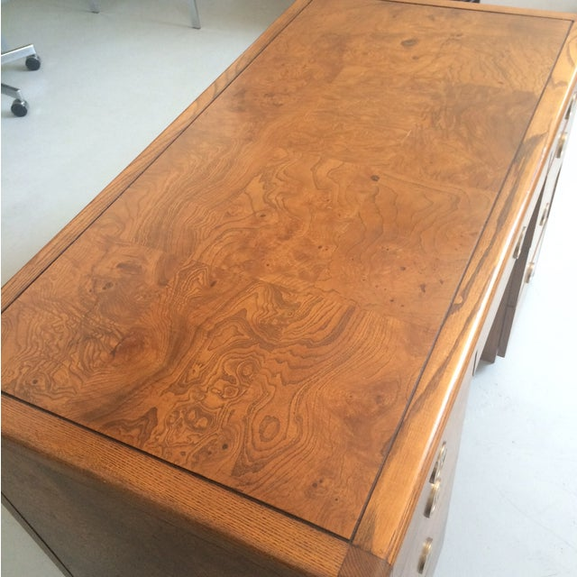 Art Deco Sligh Pedestal Desk - Image 7 of 8