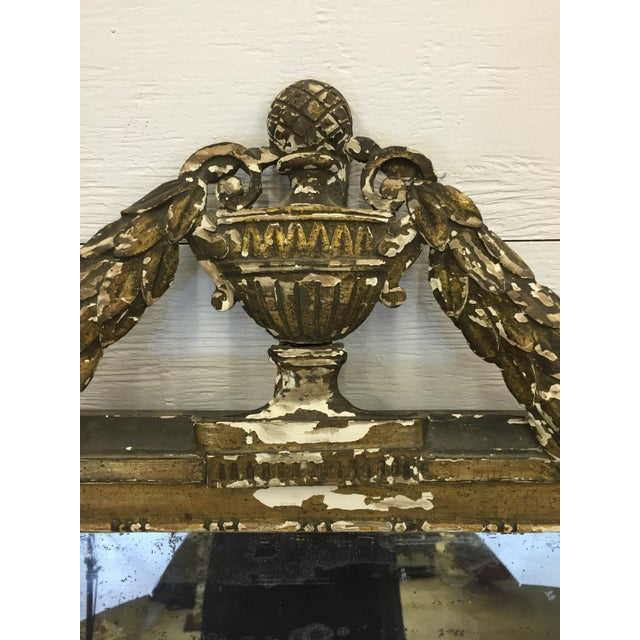 19th Century French Carved and Painted Mirror - Image 2 of 6