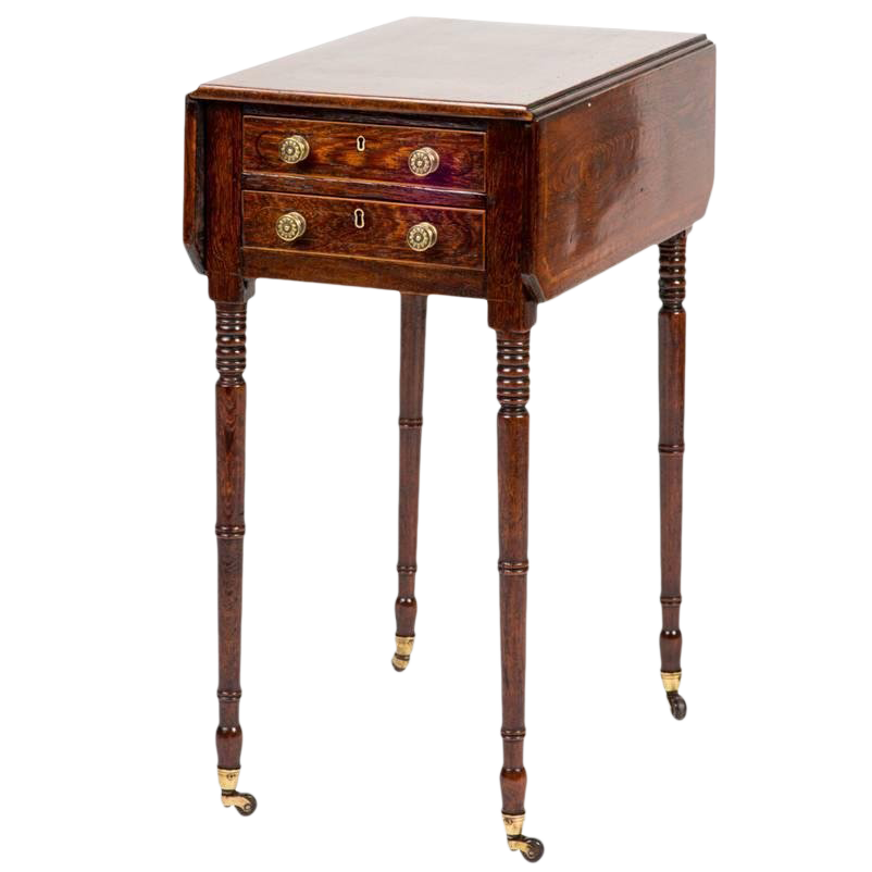 Incredible 19th Century Rosewood Drop Leaf Side Table Decaso