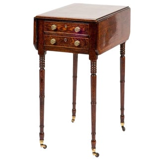 19th Century Rosewood Drop-Leaf Side Table For Sale