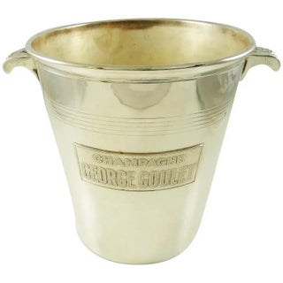 1950s Mid-Century French Silver Plate Champagne Bucket Wine Cooler by George Goulet For Sale