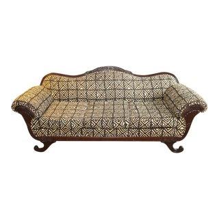 Reupholstered Duncan Phyfe Sofa
