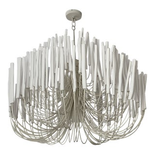 White Arteriors Tilda Large Chandelier For Sale