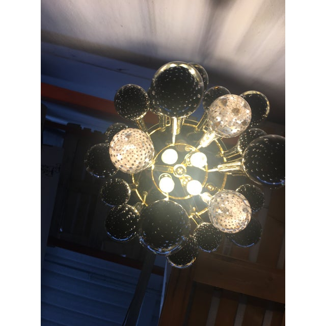 Gold Murano Glass Big Drops Black and Gold Sputnik Chandelier For Sale - Image 8 of 12