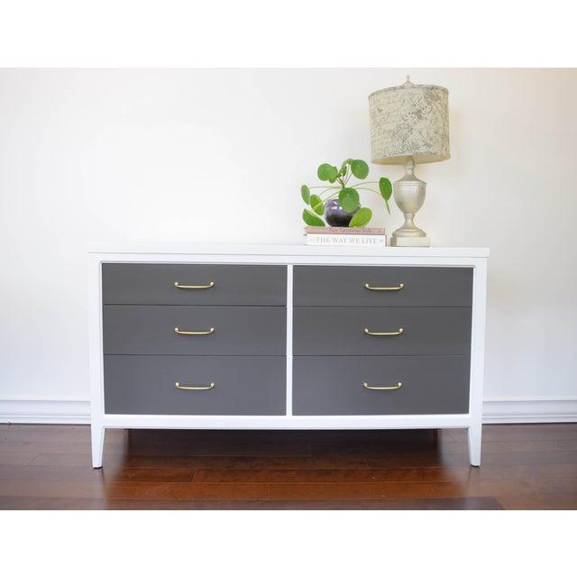 Mid-Century Modern White & Gray Dresser - Image 2 of 10