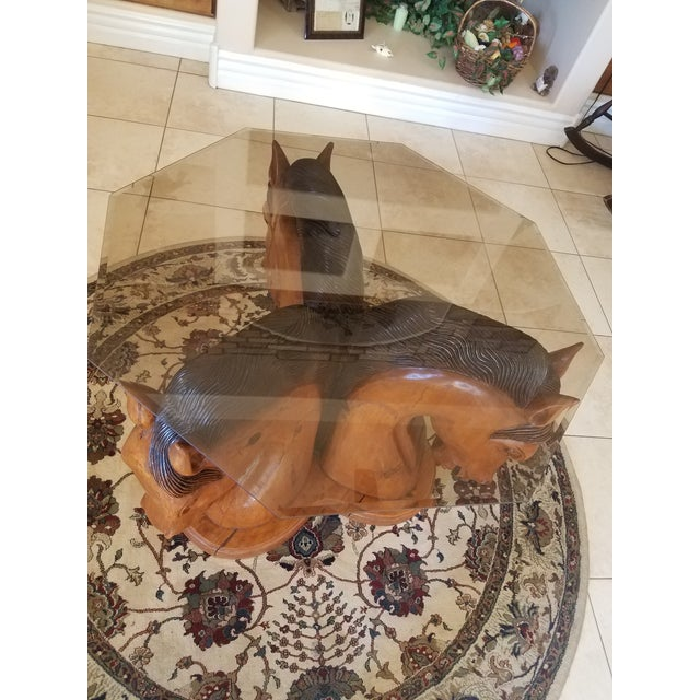 Hand Carved Horse Head Coffee Table For Sale - Image 12 of 13