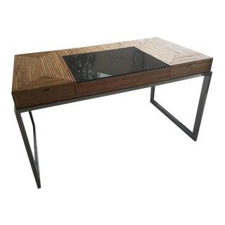 Milo Baughman Bamboo & Chrome Desk For Sale
