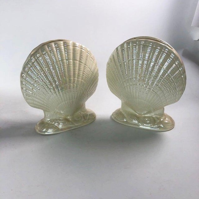 Iridescent Clam Shell Vases - Set of 2 For Sale In Atlanta - Image 6 of 6