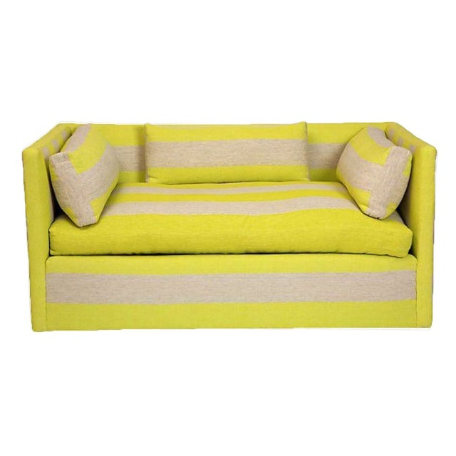 Yellow & Grey Settee For Sale