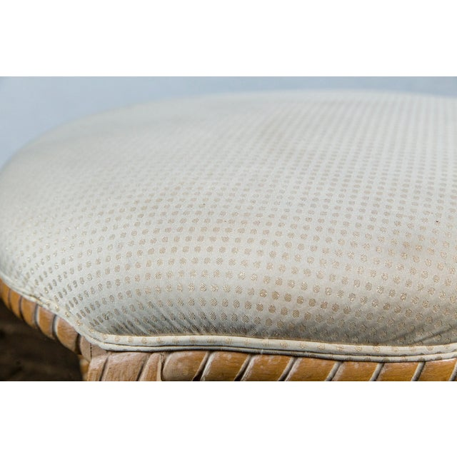 Gray Carved Wood Faux Rope Circular Bench, French Style For Sale - Image 8 of 11