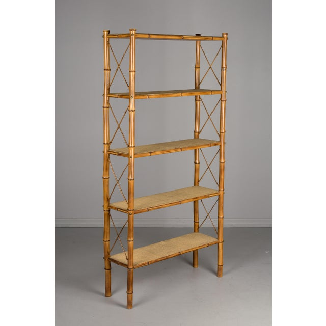 Mid-Century French Bamboo & Rattan Etagere For Sale - Image 11 of 11