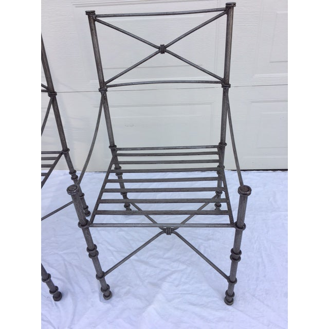 Neoclassical Iron Table & Chairs For Sale In Chicago - Image 6 of 11