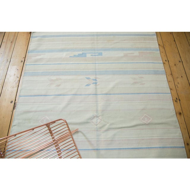 """Asian Vintage Dhurrie Rug - 4'3"""" x 6'8"""" For Sale - Image 3 of 7"""
