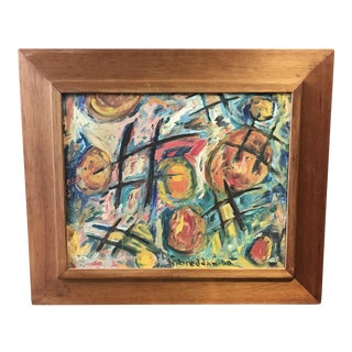 1960 Framed Abstract Painting