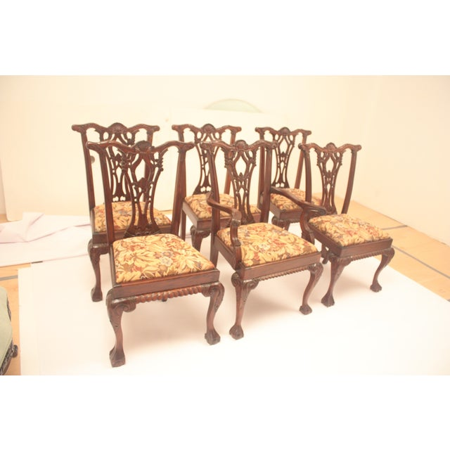 Chippendale Style Dining Chairs - Set of 6 - Image 2 of 11