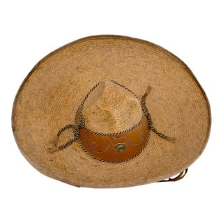 Mexican Sombrero With Leather Detailing