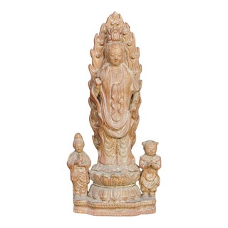 Vintage Ceramic Standing Guan Yin For Sale
