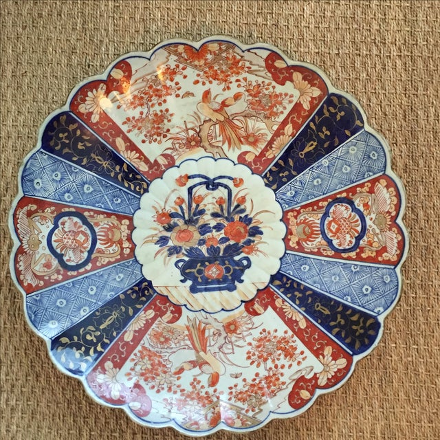 Antique Monumental Japanese Imari Charger - Image 2 of 6