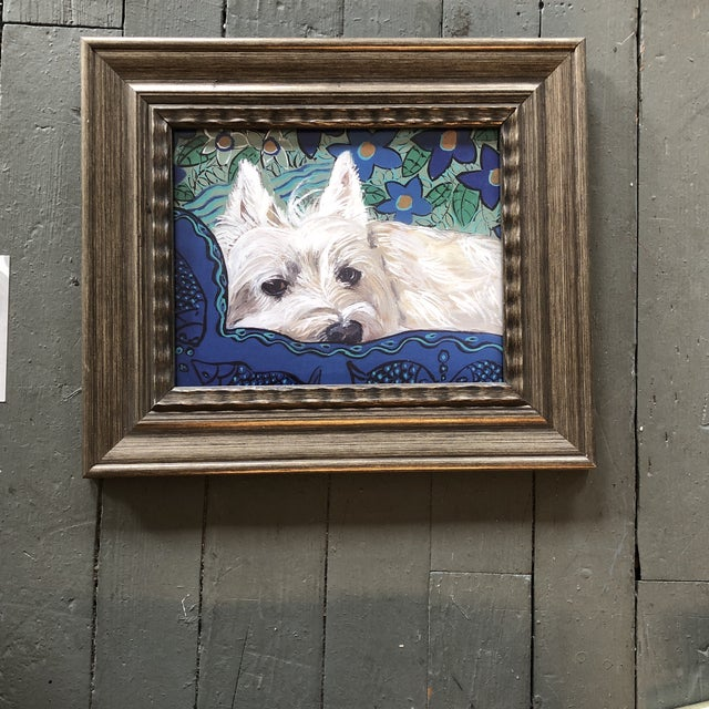 Westie Dog Print by Contemporary Artist Judy Henn For Sale - Image 4 of 4