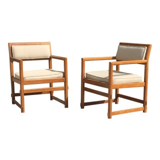 1960s Mid-Century Modern Edward Wormley for Dunbar Club Chairs - a Pair For Sale