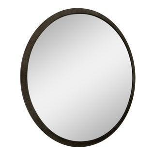 Restoration Hardware 1940s Eglomise Mirror in Steel Finish For Sale