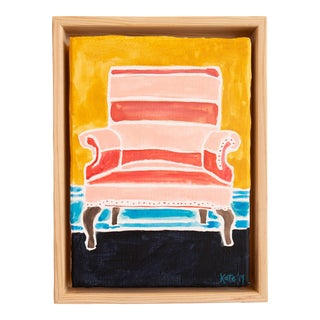 Kate Lewis Striped Chair Original Painting For Sale
