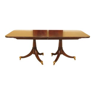 Duncan Phyfe Maitland Smith Figural Mahogany Table For Sale