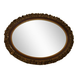 Vintage Giltwood Oval Mirror For Sale