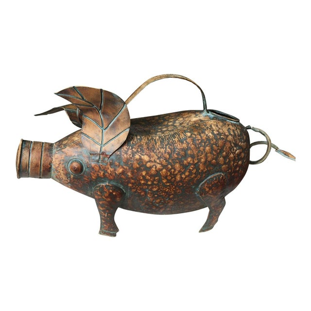 Vintage Copper Pig Watering Can - Image 1 of 7