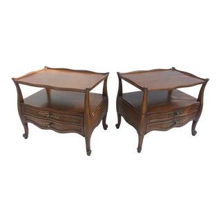 Vanleigh Furniture Hollywood Regency Nightstands - A Pair For Sale