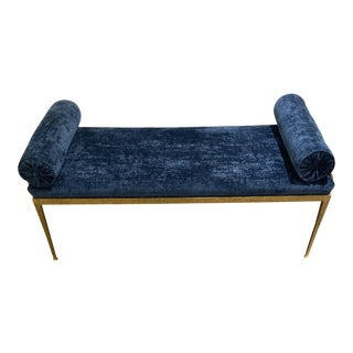 Custom Made Gold Iron Metal Bench For Sale