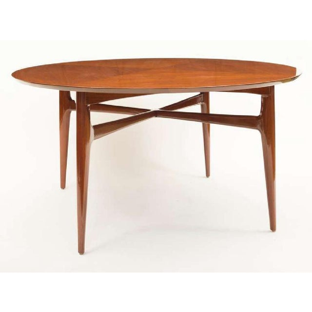 Vladimir Kagan Mid-Century Matched Walnut and Mahogany Cocktail Table For Sale - Image 4 of 5
