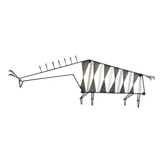 1950s Vintage Metal Llama Wall Sculpture For Sale
