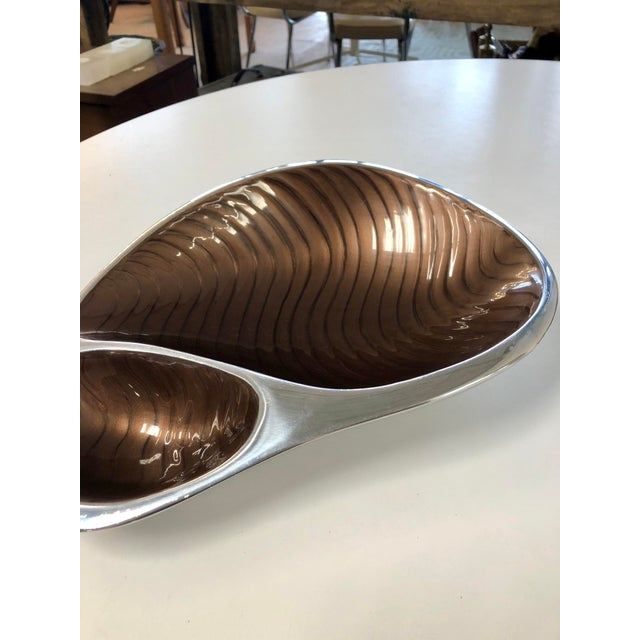 Contemporary Nombré Contemporary Pewter Serving Dish For Sale - Image 3 of 8