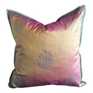 Silk Block Printed Pillow