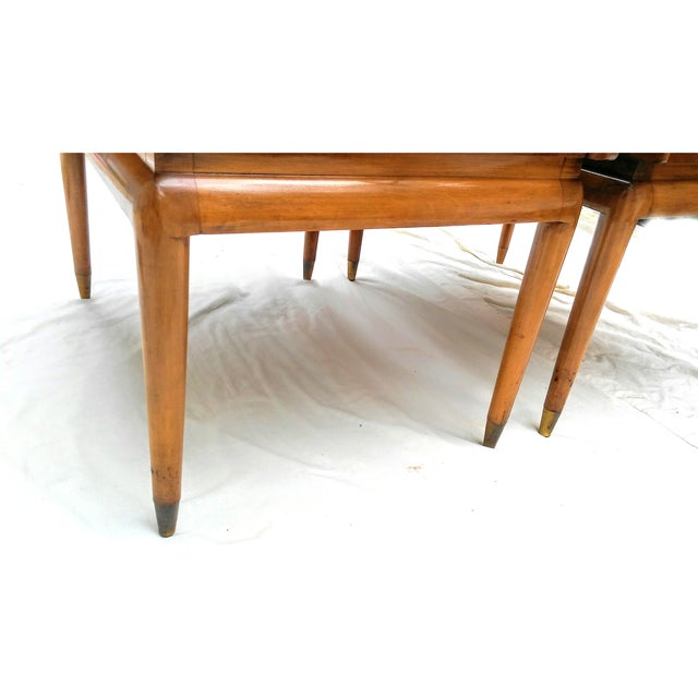Mid Century Walnut Nightstands - a Pair - Image 9 of 10