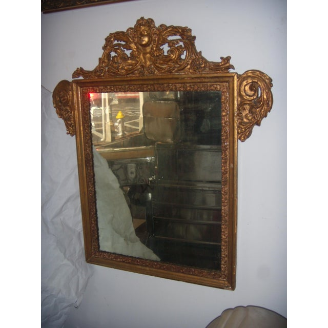 Antique Italian Gilt Cherub Mirror - Image 3 of 12