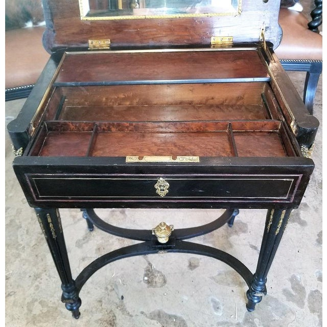 French 19th Century French Napoleon III Ladies Make-Up Table or Vanity For Sale - Image 3 of 13
