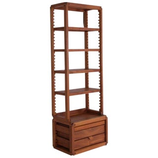 Rare Adjustable French Library by Pierre Chapo For Sale