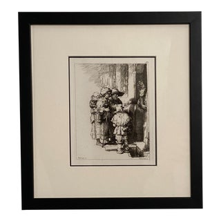 Late 18th Century Rembrandt Etching #7, by Francesco Novelli For Sale