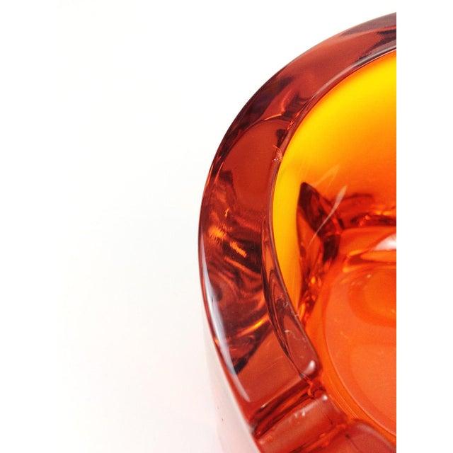 Mid Century Viking Art Glass Orange Orb Ashtray - Image 3 of 5