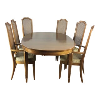 1960s Mid-Century Modern Thomasville Dining Set - 7 Pieces For Sale