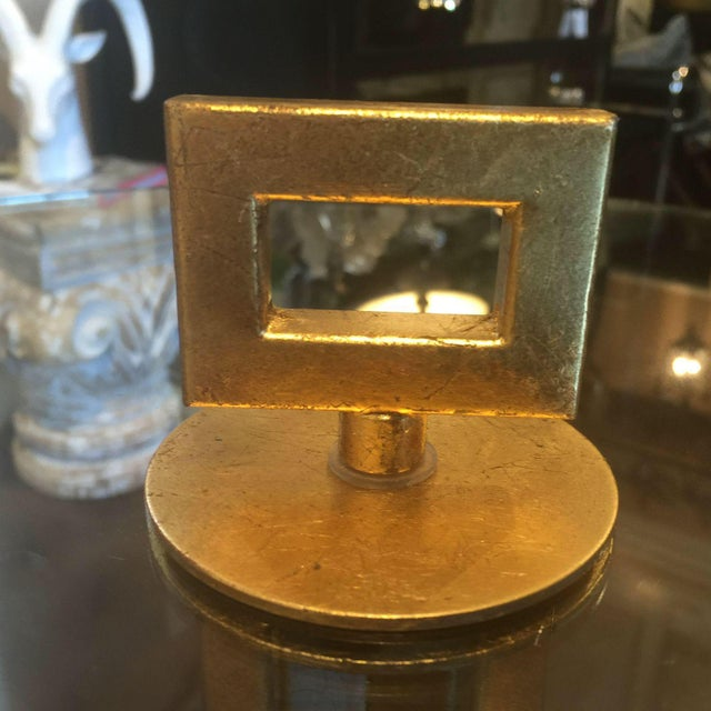Greek Key Motif Gold Side Table - Image 4 of 6