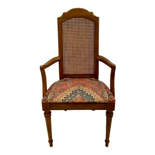 Vintage Drexel Italian Neoclassical Cane Back Chair For Sale