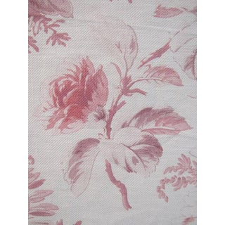 Fabric Shabby Chic Antique French Faded Floral Curtain Panel C1900 2.25 Yards For Sale