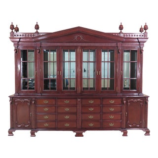 Regency Lincoln-Gerard Mahogany Breakfront With Rams For Sale